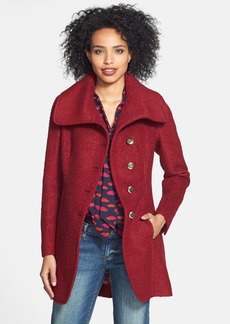 GUESS Cutaway Front Bouclé Coat (Regular & Petite) (Online Only)