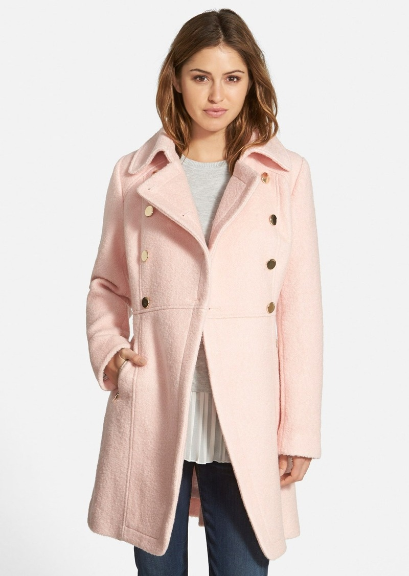 GUESS GUESS Double Breasted Bouclé Cutaway Coat (Regular