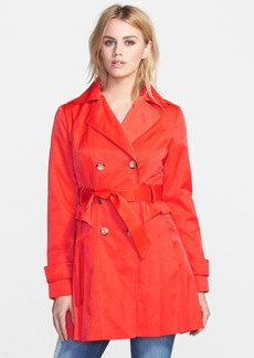 GUESS Double Breasted Skirted Trench Coat