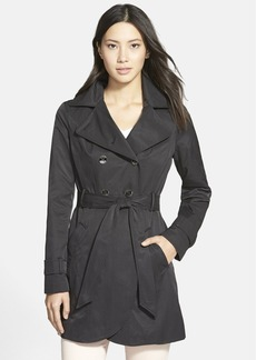 GUESS Double Breasted Trench Coat with Detachable Hood