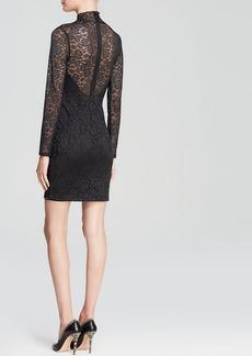 GUESS Dress - Long Sleeve Mock Neck Lace