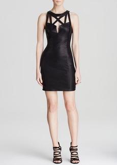 GUESS Dress - Strap Yoke Metallic
