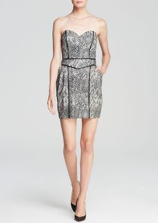 GUESS Dress - Strapless Snake Tulip