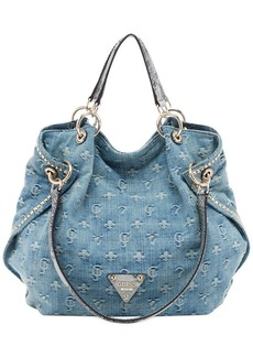 GUESS Dylan Denim Satchel