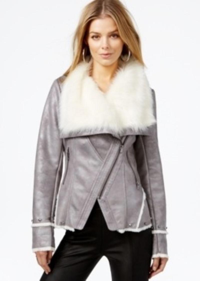 GUESS Guess Embellished Faux-Fur Coat   Outerwear - Shop ...