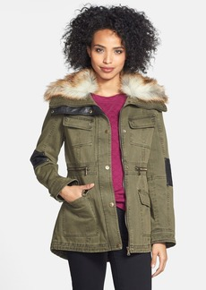 GUESS Faux Fur Trim Anorak