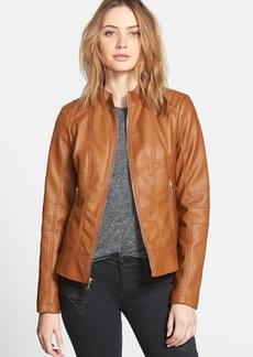 GUESS Faux Leather Scuba Jacket