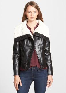 GUESS Faux Shearling Moto Jacket