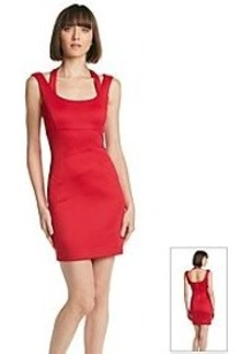 GUESS Halter Strap Scuba Sheath Dress