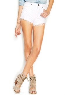 GUESS High-Rise Skinny Jean Shorts, True White Wash