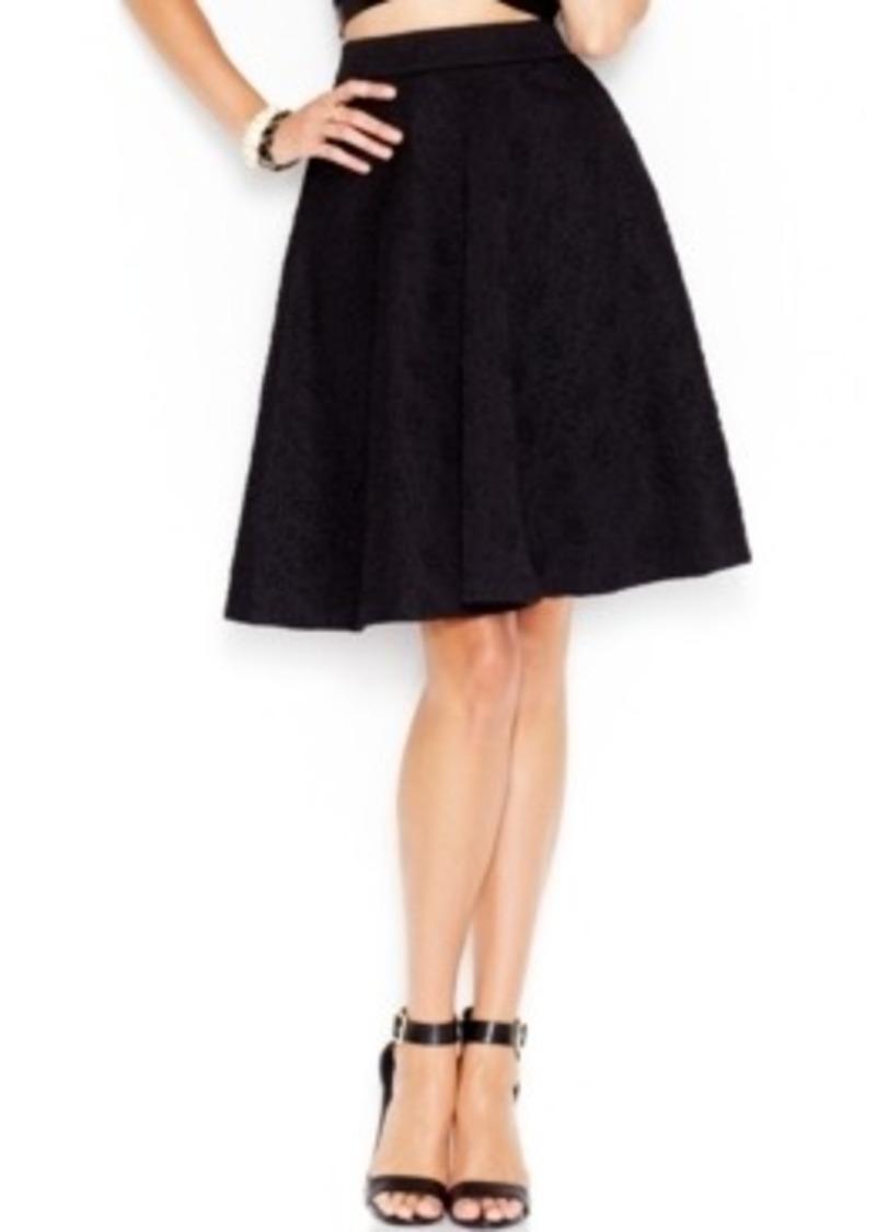 guess guess high waist embossed a line skirt skirts