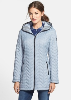 GUESS Hooded Chevron Quilted Jacket (Online Only)