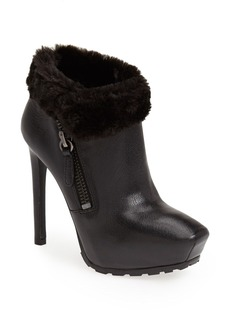 GUESS 'Ivorie' Faux Fur Trim Leather Bootie (Women)