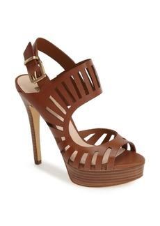 GUESS 'Kabirra' Cutout Leather Platform Sandal (Women)