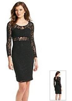 GUESS Lace Cutout Midi Dress