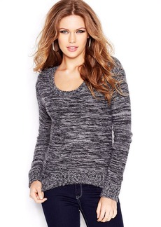 GUESS Long-Sleeve Colorblocked Angora-Blend Sweater