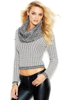 GUESS Long-Sleeve Cowl-Neck Cropped Sweater