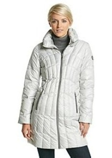 Guess Long Sleeve Front Stand Collar Coat