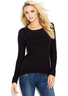 GUESS Long-Sleeve Marled-Knit Sweater