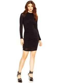 GUESS Long-Sleeve Mock-Turtleneck Body-Con Dress
