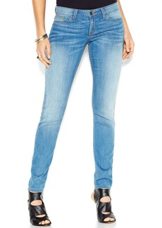 GUESS Low-Rise Skinny-Leg Jeans, Light Wash