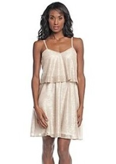 GUESS Metallc Popover Dress