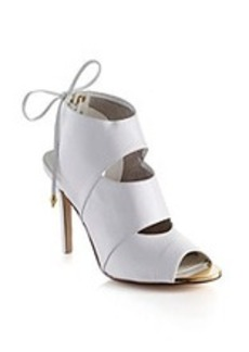 "Guess ""Ollay"" Peep-toe Dress Heels - White"