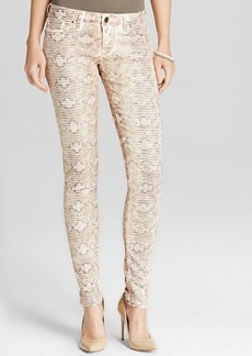 GUESS Pants - Power Skinny Foil Snake Print