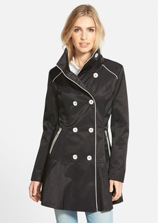 GUESS Piped Stand Collar Trench Coat