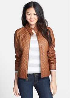 GUESS Quilted Faux Leather Jacket (Online Only)