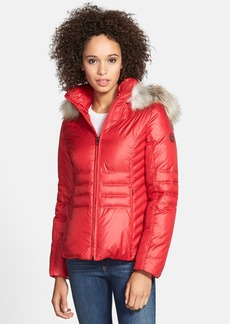 GUESS Quilted Puffer Jacket with Removable Faux Fur Trim (Online Only)