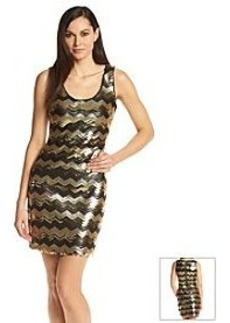 GUESS Sequin Chevron Sheath Dress
