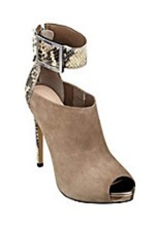 "Guess ""Shilvy"" Suede Cuffed Faux Alligator Heels"