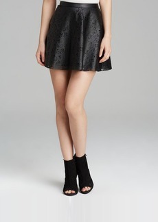 GUESS Skirt - Laser Cut Faux Leather Circle