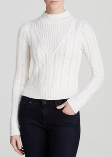 GUESS Sweater - Cable Knit Crop