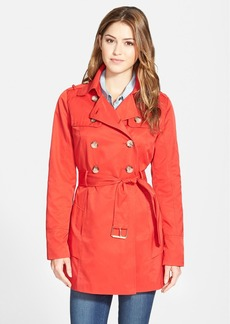 GUESS Tiered Double Breasted Trench Coat