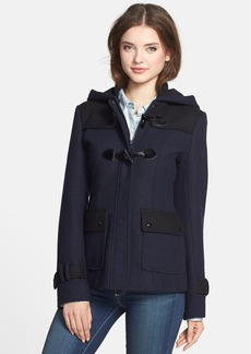 GUESS Two-Tone Toggle Coat with Detachable Hood (Regular & Petite)