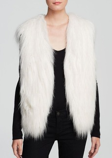 GUESS Vest - Draped Faux Fur