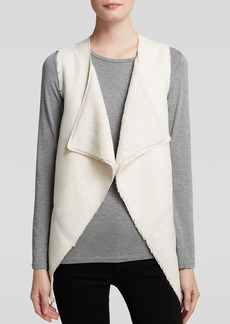 GUESS Vest - Draped Faux Sherpa