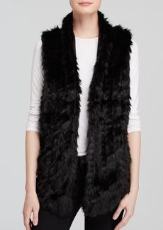 GUESS Vest - Faux Fur Knit Back Open Front
