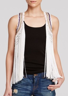 Guess Vest - Fringed Crochet