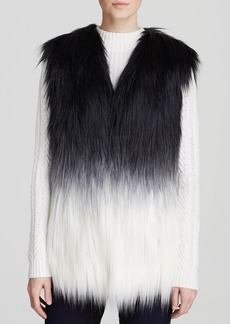 GUESS Vest - Ombré Faux Fur