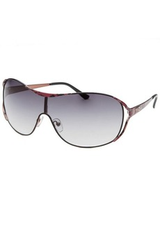 Guess Women's Aviator Black and Purple Sunglasses