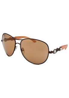 Guess Women's Aviator Bronze-Tone Sunglasses