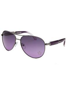 Guess Women's Aviator Silver-Tone Sunglasses