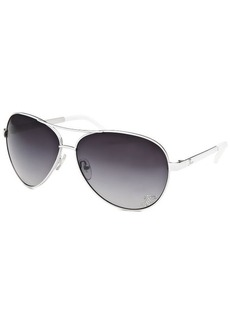 Guess Women's Aviator White Sunglasses