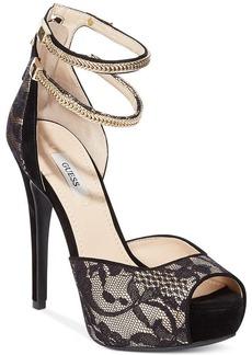 GUESS Women's Katrines Platform Sandals