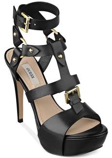 GUESS Women's Ormandi Caged Platform Sandals