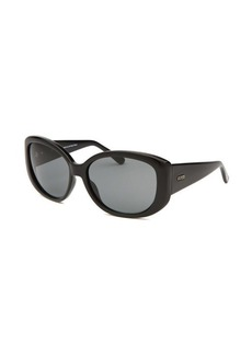 Guess Women's Oversized Black Sunglasses Gold-Tone Accents