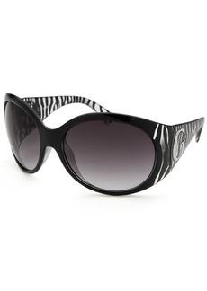 Guess Women's Oversized Black Zebra Print Sunglasses